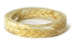 Flower Jewelry- Real Flower Bangle- Real Flower Resin Jewelry - Jewelry made with Flowers- Wheat Bracelet