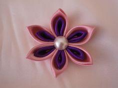 kanzashi flower tutorial, DIY, How to,fabric flowers (+плейлист)