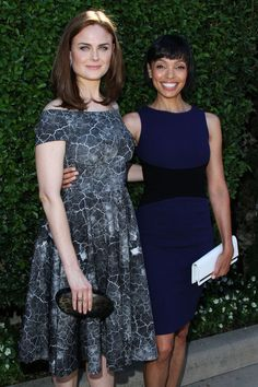 Emily Deschanel and Tamara Taylor seen at the Rape Foundation's 'Annual Brunch To Benefit The Rape Treatment Center & Stuart House' at St. Santa Monica-UCLA Medical Center at Greenacres in Beverly Hills. (September 29, 2013)