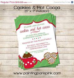 hot cocoa party invitation printable Christmas Party Invitation