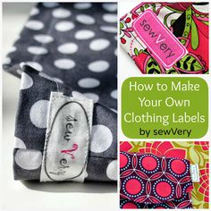 Making your Own Labels with Spoonflower and a GIveaway! — sewVery via Pattern Revolution