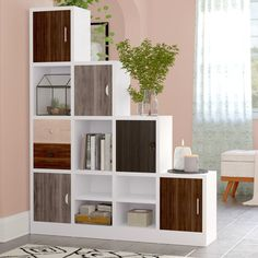 Rory Cube Bookcase - as an idea. can't be reversed, so wouldn't work in our space Living Room Partition Design, Living Room Divider, Room Partition Designs, Living Room Decor, Ikea Room Divider, Step Bookcase, Cube Bookcase, Room Divider Bookcase, Ladder Bookcase