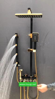 Washroom Design, Kitchen Room Design, Bathroom Interior Design, Interior Design Living Room, Luxury Interior Design, Interior Modern, Lake House Bathroom, Home Remodeling Diy, Rainfall Shower