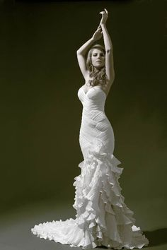Pnina Tornai flamenco wedding gown.
