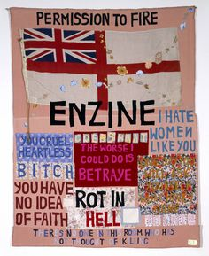 Tracey Emin Hate and Power Can be a Terrible Thing Date 2004 Medium Textiles Dimensions Object: 2700 x 2060 x 3 mm Tabula Rasa, Tracey Emin, Protest Art, Art Terms, Political Art, Political Events, Vintage Poster, Textile Fiber Art, Exhibition Poster