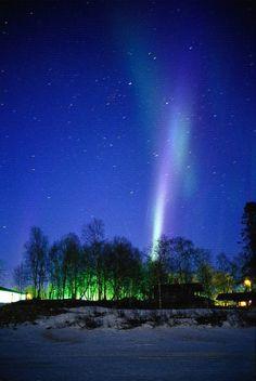 Northern lights (aurora borealis), Lapland, Finland