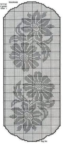 filet crochet World crochet: Tablecloth 5 Crochet Table Runner Pattern, Crochet Doily Patterns, Crochet Tablecloth, Thread Crochet, Crochet Motif, Crochet Designs, Crochet Doilies, Crochet Stitches, Cross Stitch Patterns