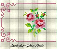 Discover thousands of images about Cross stitch floral towel İnstagram:madebyigneiplik Small Cross Stitch, Cross Stitch Rose, Cross Stitch Borders, Cross Stitch Flowers, Cross Stitch Charts, Cross Stitch Designs, Cross Stitching, Cross Stitch Embroidery, Stitch Crochet