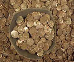 Iron age gold coins found by a treasure hunter