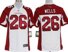 ee412c98c Nike Arizona Cardinals 26 Chris Wells White Game Football Jersey Cardinals  Jersey