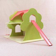 Handmade Pink Dollhouse Treehouse