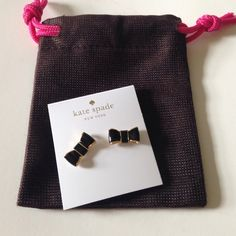NWT Kate Spade Take a Bow Earrings NWT Kate Spade Take a Bow Black Earrings. Final price unless bundled ❤️100% of sales go toward our fundraiser for a family in need❤️ kate spade Jewelry Earrings