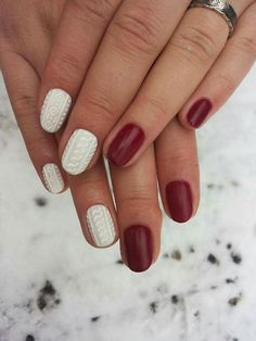 Cable knit sweater nails