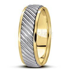 Diamond-cut-fancy-wedding-band
