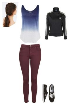 """""""Feel'n Active"""" by phoenix1053 ❤ liked on Polyvore featuring Topshop, Vans, JEM, Velvet by Graham & Spencer, women's clothing, women, female, woman, misses and juniors"""