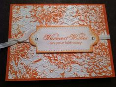blooming with kindness - stampin up  So love the background on this!!  Must make one....or two...