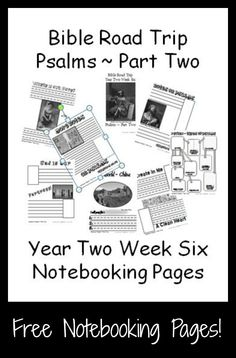 {Free Printable Notebook Pages} Bible Road Trip ~ Year Two Week Six