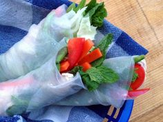 Chicken And Vegetable Spring Rolls- Leftover chicken