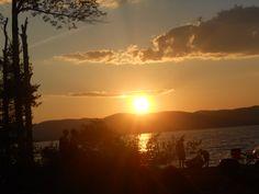 The Great Sacandaga Lake at sunset