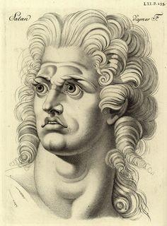Portrait of Satan, after FuseliLavater, Johann Caspar (1741-1801), Essai sur la physiognomonie destiné, a faire connoître l'homme et à le faire aimer, The Hague 1783
