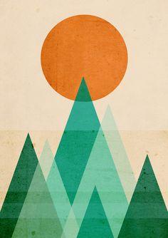 Poster | NO MOUNTAINS HIGH ENOUGH von Budi Kwan