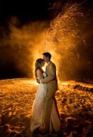 bonfire at wedding