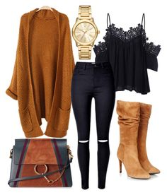 """Black & Camel"" by mode-elo on Polyvore featuring mode, Gestuz, Chloé et Michael Kors"