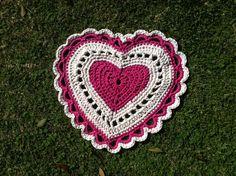 Heart Shaped Crochet Rug