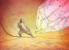 """fateash: """" Crystal Saga by Moebius """" Jean Giraud, Moebius Comics, Moebius Art, Jordi Bernet, Cosmic Art, Book Of Kells, Exhibition, Manado, Linocut Prints"""