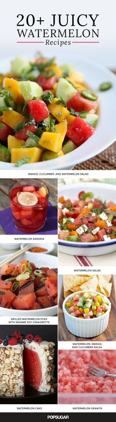 If you've never thought to experiment with watermelon, now's the time! This juicy and hydrating fruit is in season and there are so many fun ways to enjoy it this time of year. Whether in a cocktail or a salad, here are a ton of ways to incorporate watermelon into your Summer menu.