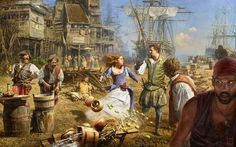 pirate ship painting fight scene by Sasha @King Steve 114404, 2560x1920 wallpaper