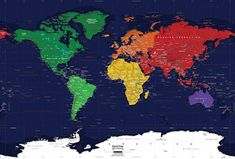 World Political Wall Map Mural