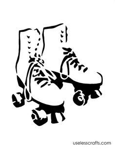 stencils of roller skates Roller Skate Cake, Roller Rink, Roller Derby, Roller Skating Party, Skate Party, Free Stencils, Custom Stencils, Silhouette, Star Patterns