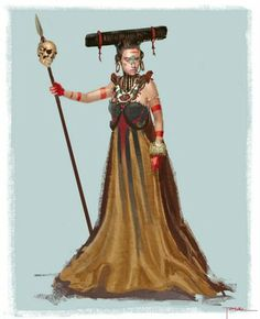Graffiti 3D: Apocalypto Character Concept: Mayan Queen  God yes! All the female costumes from that movie makes me drool.