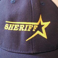 Modern SHERIFF Star Wool Serge Navy Blue Wambat Baseball Hat One Size Snapback