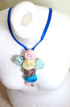 Valentine' s Day GiftPendant Crucifix Rose  by recyclingroom, $25.00