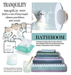 """Contemporary Bathroom"" by viva-12 on Polyvore featuring interior, interiors, interior design, home, home decor, interior decorating, Martha Stewart, Ole Henriksen, LAFCO and bathroom"