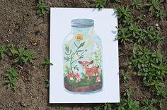 Terrarium no.1 / art print...I want this print so bad! I found my new favorite artist...Oana Befort