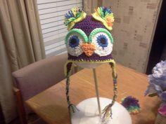 Crocheted owl