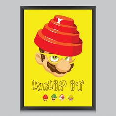 Whip it Good Poster by Butcher Billy | #poster #radbag #wandkunst #wallart #print