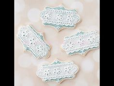 How to Decorate Eyelet Lace Cookies with Royal Icing