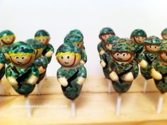 Army Soldier Cake Pops
