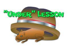 """Under"" ESL Lesson - Teaching Prepositions in English Kids English, English Class, Teaching English, Learn English, Speech And Language, Language Arts, Esl Lessons, Prepositions, Educational Videos"
