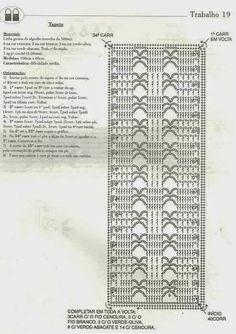 Crochê Gráfico: TAPETE COLORIDO EM CROCHÊ