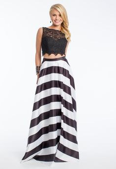 Striped Two-Piece #c