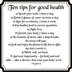 10 Tips for Goof Health and Good Life  #Life #Tips #Health