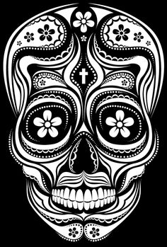 Sugar Skull by Patrick Seymour, via Behance Skull Coloring Pages, Colouring Pages, Printable Coloring Pages, Sugar Scull, Sugar Skull Art, Mexican Skulls, Mexican Art, Day Of The Dead Skull, Chicano Art