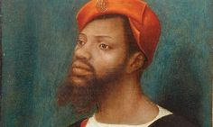 Detail from Portrait of a Moor by Jan Mostaert, 1520-30.