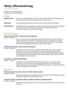 Google Docs Resume Templates Glimmer Google Docs Resume Template  Resume Templates  Pinterest