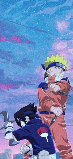 Aesthetic wallpaper of kid naruto and sasuke